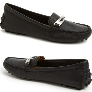 Coach Nola Driver Moccasin Pebbled Leather Loafers